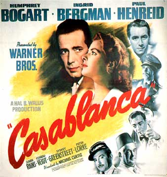 The Greatest films of all time:  37. Casablanca (1942)(USA)